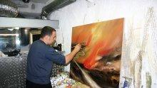 Борисов подарил на папата картина на Павел Митков? Това е някаква шега, вероятно