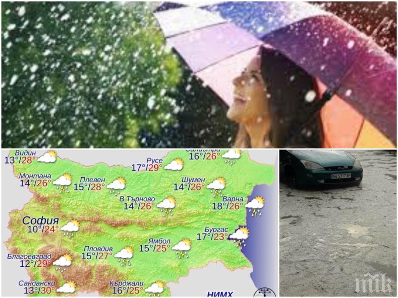 МАЙСКА ПАЛИТРА! Слънце, дъжд, гръмотевици и градушки ще ни объркат уикенда