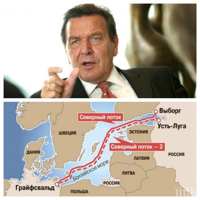 """Герхард Шрьодер разкритикува ЕС и САЩ заради позицията им по """"Северен поток-2"""""""