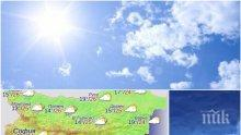 КАПРИЗИТЕ НА ВРЕМЕТО! В неделя ще грее слънце, ще вали и ще падат гръмотевици