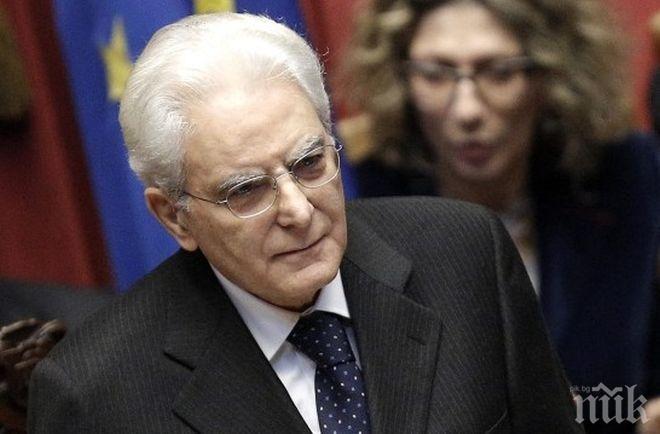 Президентът на Италия получавал смъртни заплахи