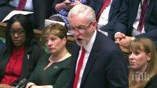 """Лидерът на лейбъристите смята, че Тереза Мей е """"твърде слаба"""" за да се противопостави на САЩ за вносните мита"""