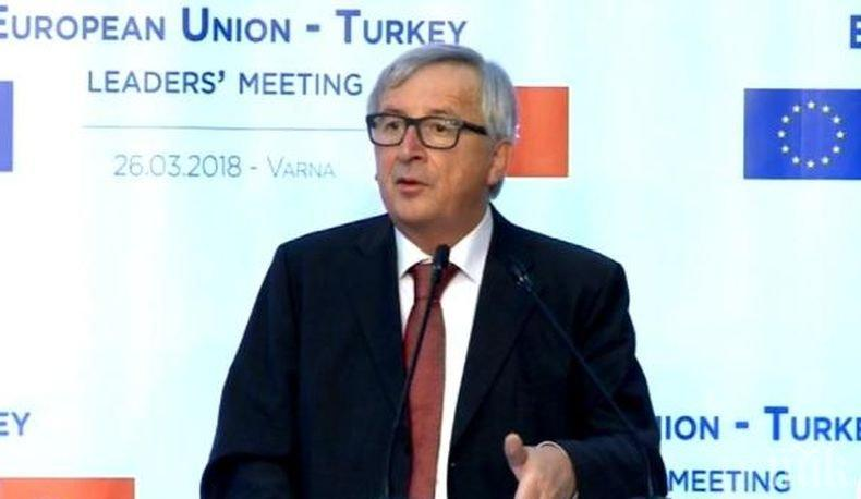 Жан-Клод Юнкер призова държавите в ЕС да сближат вижданията си по въпросите за миграцията