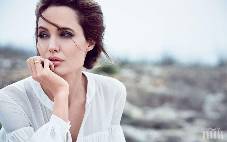 Анджелина Джоли празнува рожден ден на влакче на ужасите (СНИМКИ)