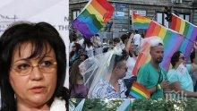 СИЛЕН ОТПОР! И Нинова скочи на гей-браковете: Какво е това, бе хора?! Децата трябва да пазим!