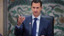 Президентът на Сирия отрече, че в Русия решават вместо него