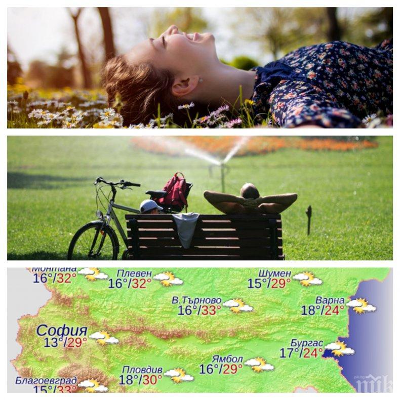 Днес ще бъде топло и без валежи, очаква ни по-хладен уикенд