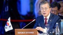 Президентът на Южна Корея не спал цяла нощ в очакване на срещата между лидерите на Северна Корея и САЩ