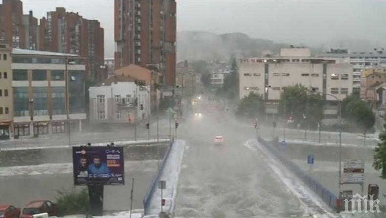 Бедствие! Лятна буря почти потопи сръбски град