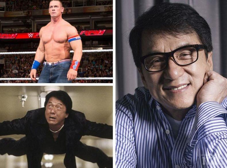 Неуморим! Джеки Чан се снима в екшън със звездата от свободните борби Джон Сина