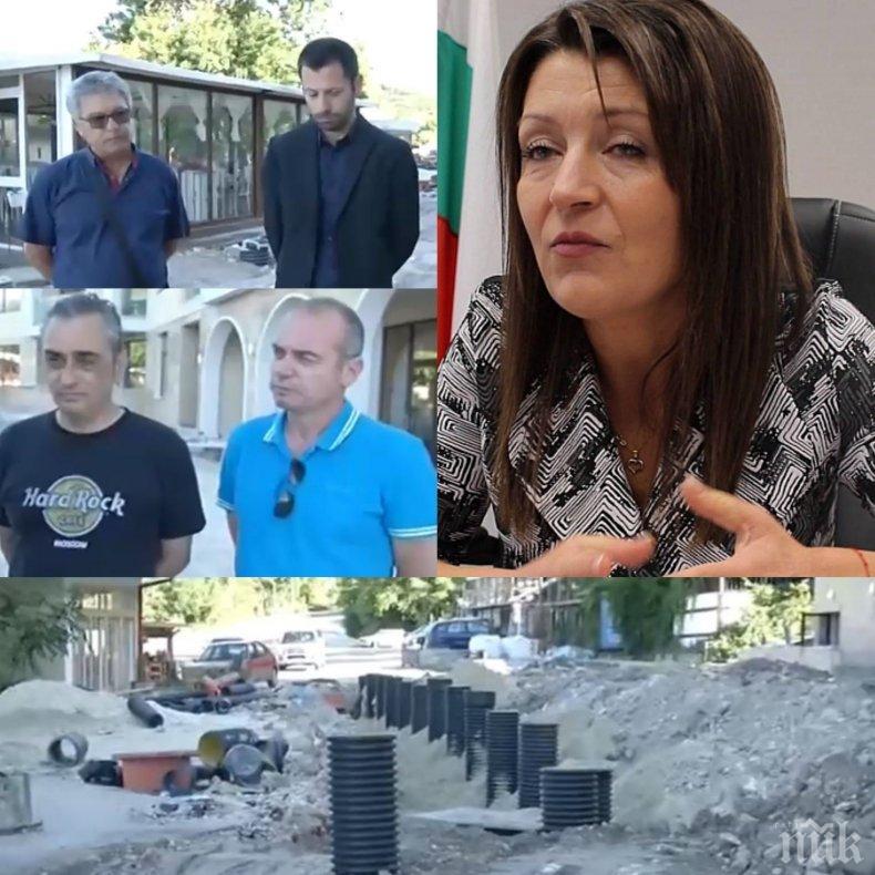 СКАНДАЛ! Кметицата на Каварна дерибейства, строи въпреки забраната! Нина Ставрева превърна града в Сирия (СНИМКИ)