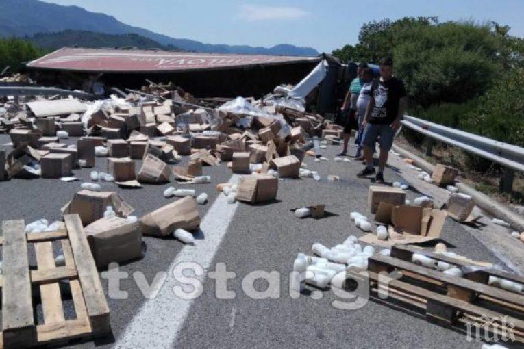 Наш тираджия пострада в катастрофа в Гърция