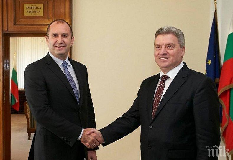 ПЪРВО В ПИК TV! Президентът Радев посреща Георге Иванов след скандала с името на Македония (ОБНОВЕНА/СНИМКИ)