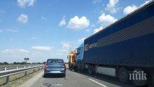 "ПЪРВО В ПИК! Огромна тапа на автомагистрала ""Тракия"" преди Пловдив! Ето защо (СНИМКИ)"