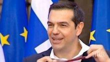 Ципрас се издокара пред ЕС с вратовръзката на Заев