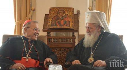 ПО ХРИСТИЯНСКИ: Патриарх Неофит и кардинал Каспер обсъдиха проблемите пред Европа