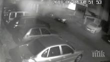 НАГЛА КРАЖБА! Тарашат автомобил пред камери