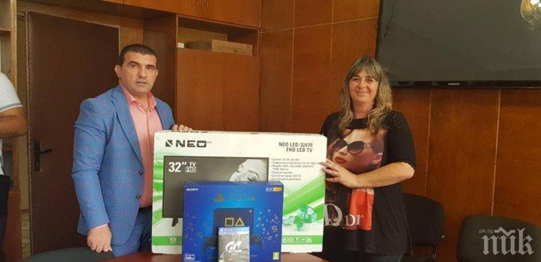 Община Девня подари телевизори и електронни игри на четири читалища