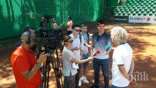 Тенис звездата Турсунов учи млади родни таланти (СНИМКИ)