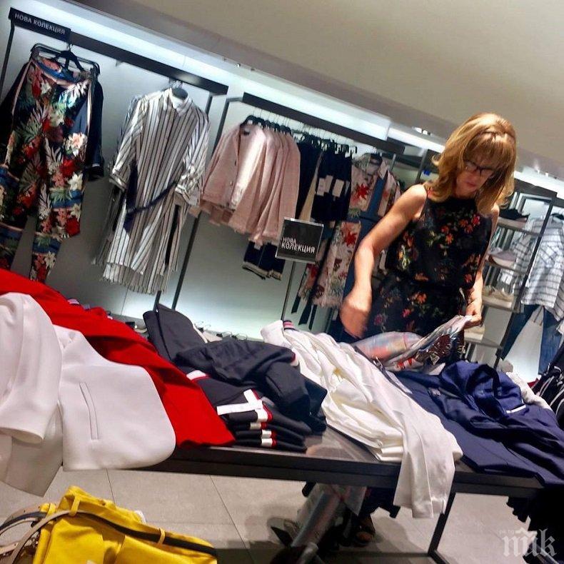 СКАНДАЛНО! Румяна Ченалова хвърли маса пари в скъпи бутици с хонорар от Цветан Василев (СНИМКИ)