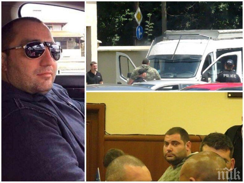 """Бивш гард на Очите влезе в съда с полицейски конвой, отрече се от показанията си за """"4 you"""", глобиха го (СНИМКИ)"""
