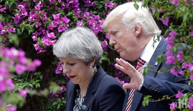 """Според Тръмп планът за Брекзит на Тереза Мей може да """"убие"""" търговското споразумение със САЩ"""