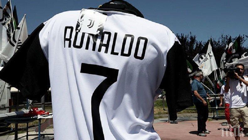 СКОРОСТНО! Всяка минута Ювентус продава по една фланелка на Роналдо