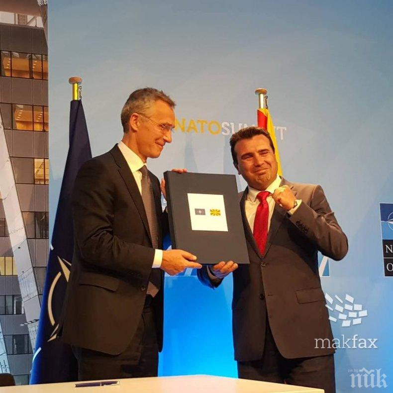 Зоран Заев получи официално поканата за НАТО (СНИМКА)