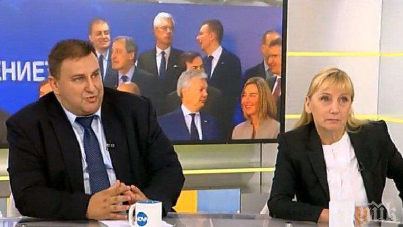 СПОР В ЕФИР! Евродепутат от ГЕРБ затапи Елена Йончева за европредседателството
