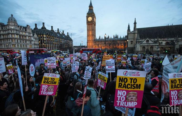 Хиляди протестираха срещу Тръмп в Лондон