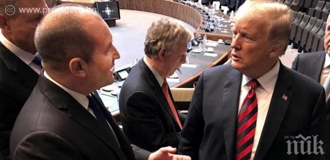 Президентът Румен Радев разговаря с Тръмп в Брюксел