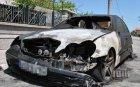 ОГНЕН АД! Мерцедес изгоря като факла зад кметството в Равда