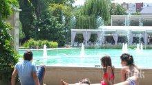 АДСКИ МОР! Горещниците изпържиха Пловдив! Термометърът удари 34 градуса, фонтаните станаха плаж