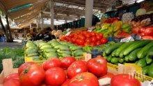 Краставици и домати поевтиняват, чушките също