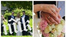 """ЕКСКЛУЗИВНО В ПИК TV! 3 бели гълъба полетяха към небето на сватбата на Емилия и Жорж Башур - само в """"Жълтите новини"""" (ВИДЕО + СНИМКИ)"""