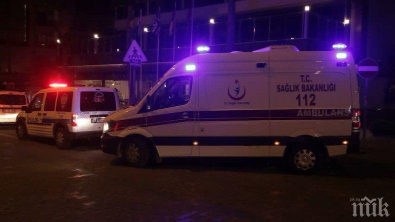 Свлачища и дъждове срутиха цял блок в Истанбул