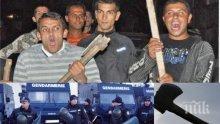 ЖЕСТОКО МЕЛЕ! Цигани нападнаха полицаи с брадви и улуци в Хасково, униформен е ударен в главата