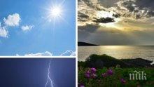 Слънце и малко облаци! Дъжд и гръмотевици на места в Северна България след обяд