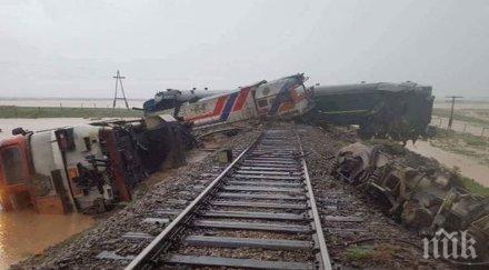 Най-малко шестима ранени, след като пътнически влак дерайлира в Монголия