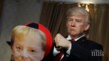 АТРАКЦИЯ! Тръмп нападна Меркел в Музея на мадам Тюсо (СНИМКИ)