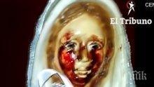 ЧУДО! Статуя на Дева Мария в Аржентина заплака с кървави сълзи (НЕОБЯСНИМО ВИДЕО)