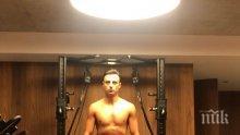 Бербо тренира яко във фитнеса, Евра му се кефи (СНИМКИ)