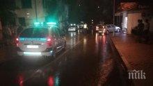 ПОТРЕСАВАЩА ГЛЕДКА! Първи СНИМКИ на заведението в Петрич, пред което автомобил помете деца! Навсякъде е опръскано с кръв (18+)