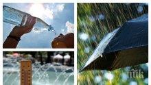 ВРЕМЕТО ПОЛУДЯ! Идва захлаждане, не забравяйте чадърите