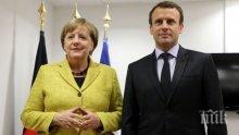 Меркел ще посети Макрон в Париж в началото на септември