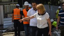 ЕКСКЛУЗИВНО В ПИК TV! Фандъкова инспектира ремонтите на столичния бул. България (ОБНОВЕНА)