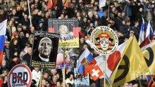 СКАНДАЛ В ГЕРМАНИЯ! Крайнодесният демонстрант, скочил на телевизионен екип в Дрезден, се оказа полицай