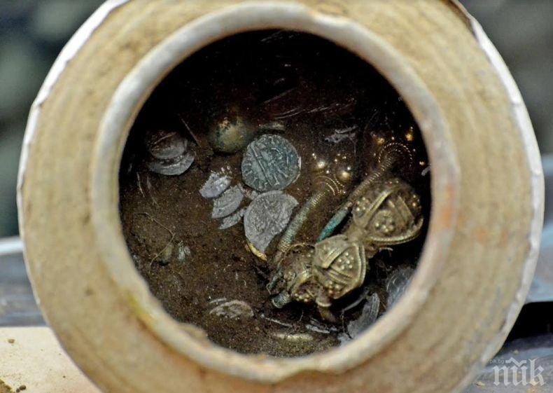 Археолози с ново откритие! Намериха гърне пълно със султанско съкровище (СНИМКИ)