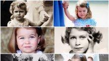 Малката принцеса Шарлот по стъпките на кралица Елизабет II