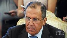 Лавров: Надяваме се, че Западът няма да се меси в евентуална антитерористична операция в Идлиб